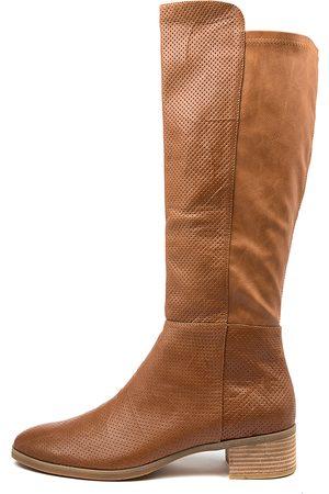 Django & Juliette Women Knee High Boots - Tipton Lrg Tan Boots Womens Shoes Casual Long Boots