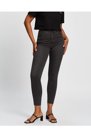All About Eve Frankie High Rise Jeans - High-Waisted (Washed ) Frankie High Rise Jeans