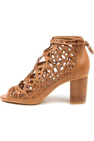 Django & Juliette Vinton Dk Tan Sandals Womens Shoes Casual Heeled Sandals