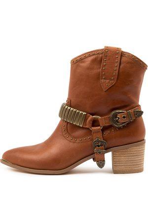 Django & Juliette Hance Dj Cognac Boots Womens Shoes Casual Ankle Boots