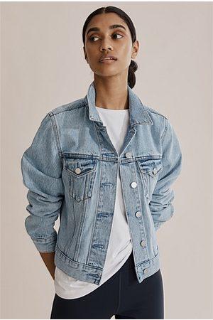 COUNTRY ROAD Slim Australian Cotton Denim Jacket - Aged Soft Wash