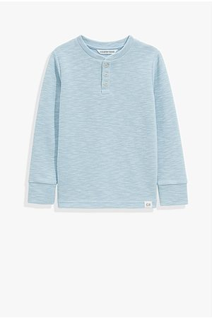 COUNTRY ROAD Organically Grown Cotton Slub Texture Henley - Pale