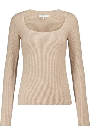 Vince Women Sweaters - Ribbed-knit cashmere sweater