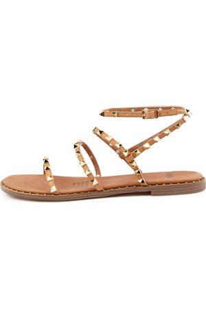 Mollini Layora Mo Dk Tan Sandals Womens Shoes Sandals Flat Sandals