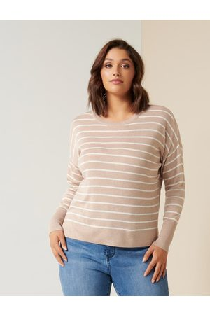 Forever New Zara Curve Stripe Lightweight Jumper