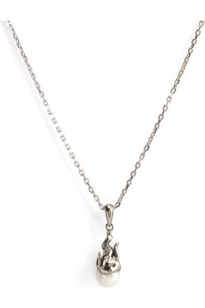Alan Crocetti Micro Gem In Heat Pearl & 18kt - Necklace - Mens