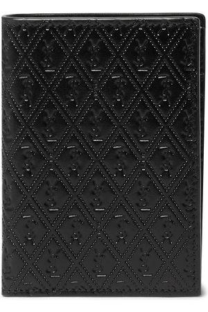 Saint Laurent Men Wallets - Logo-Debossed Leather Bifold Wallet