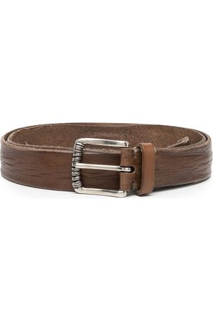 Brunello Cucinelli Men Belts - Mauhy distressed-effect belt
