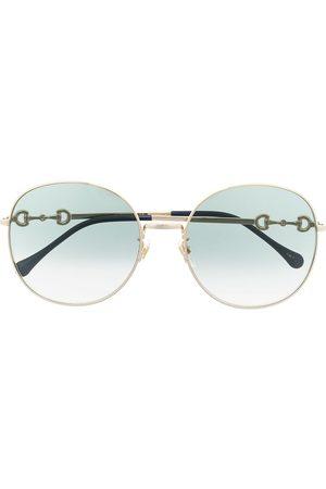 Gucci Round frame Horsebit sunglasses