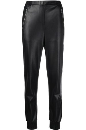 Karl Lagerfeld Mid-rise straight-leg trousers