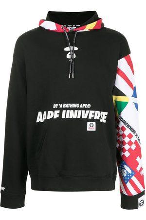 AAPE BY A BATHING APE Men Hoodies - Oversized patchwork print hoodie