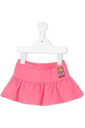 Moschino Embroidered-teddy skirt