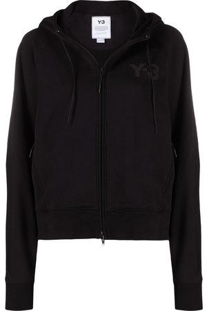 Y-3 Women Outdoor Jackets - Logo-print zip-up hooded jacket