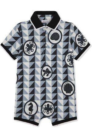 Dolce & Gabbana Nautical-patch patterned bodysuit