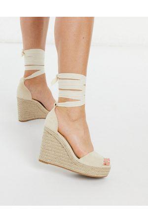 Glamorous Wedge espadrille sandals in natural-Beige