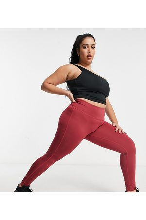 South Beach Plus high-waisted leggings in dusty pink