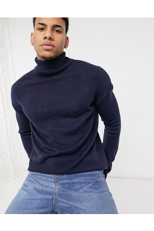 Another Influence Roll neck jumper in navy