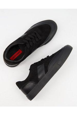 London Rebel Side stripe lace up sneakers in