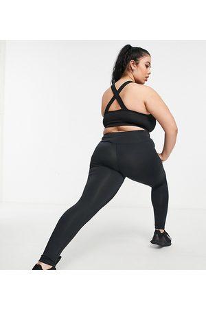 South Beach Plus high waisted leggings in black