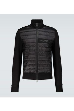 Moncler Bi-fabric cotton-blend cardigan