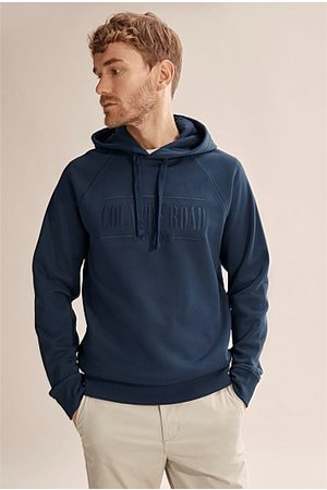 COUNTRY ROAD Verified Australian Cotton Heritage Hooded Sweat - Navy