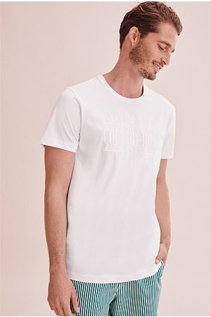 COUNTRY ROAD Men Short Sleeve - Verified Australian Cotton Heritage Logo T-Shirt