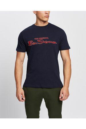 Ben Sherman Signature Flock Tee - T-Shirts & Singlets (Dark Navy) Signature Flock Tee
