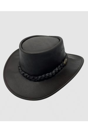 Jacaru 1069 Buffalo Leather Hat - Hats 1069 Buffalo Leather Hat