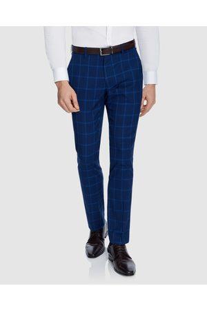 Yd. Men Formal Pants - Wolfe Check Skinny Dress Pant - Suits & Blazers Wolfe Check Skinny Dress Pant
