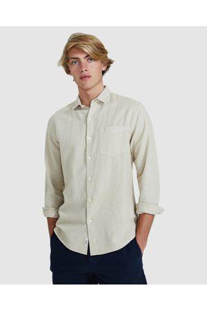 Arvust Men Long sleeves - Grover Long Sleeve Shirt - Shirts & Polos (OFF WHIT) Grover Long Sleeve Shirt