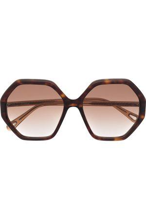 Chloé Esther hexagonal-frame sunglasses