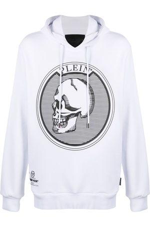 Philipp Plein Men Hoodies - Outline skull-print hoodie