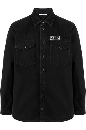 VALENTINO VLTN patch denim shirt