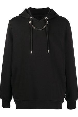 Philipp Plein Men Hoodies - Chain-detail hooded sweatshirt