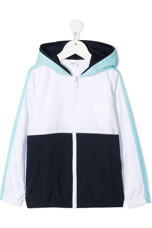 HUGO BOSS Colour-block hooded jacket
