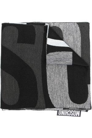 Moschino Logo wool-blend scarf