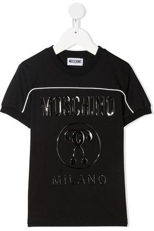 Moschino Wet-look logo print t-shirt