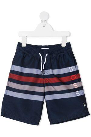 HUGO BOSS Surfer striped swim shorts