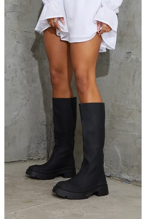 PRETTYLITTLETHING Women Knee High Boots - Knee High Rubberised Boots