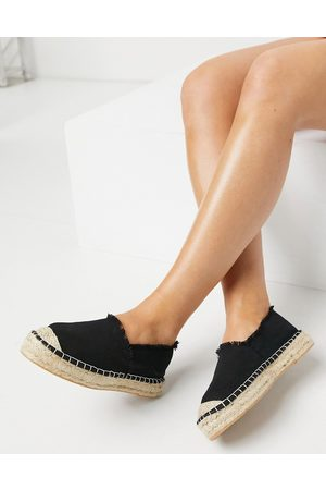 South Beach Espadrilles in black canvas
