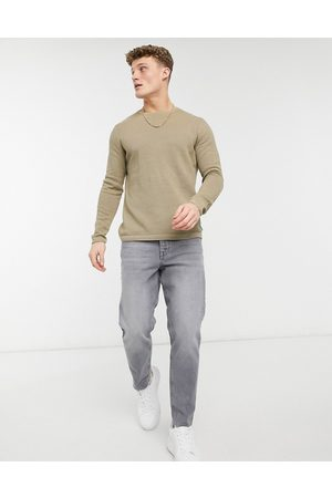 Only & Sons Textured jumper in beige