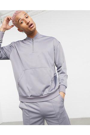 ASOS 4505 half-zip sweatshirt in poly-tricot-Grey