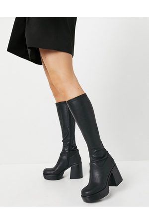 ASOS Coconut chunky platform knee boots in