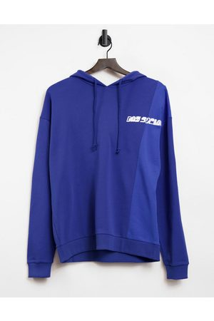 ASOS ASOS Daysocial oversized hoodie with cut-and-sew detail in blue