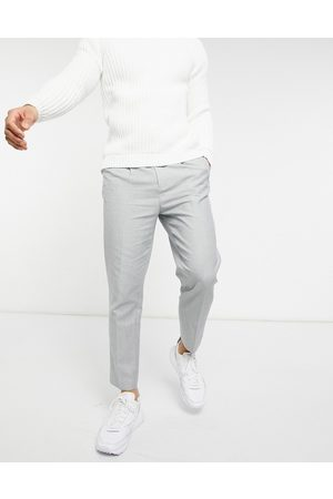 ASOS Tapered pants in cotton linen-Grey