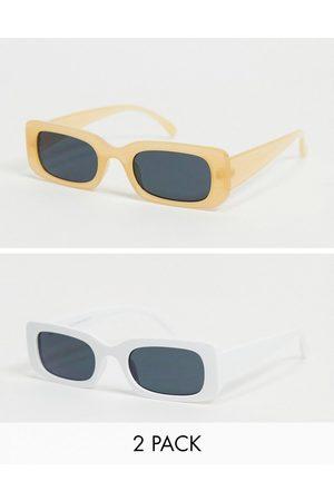 SVNX 2 pack retro square sunglasses in -Multi