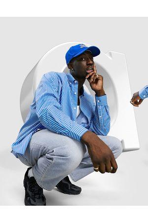 ASOS Extreme oversized dad shirt in blue stripe