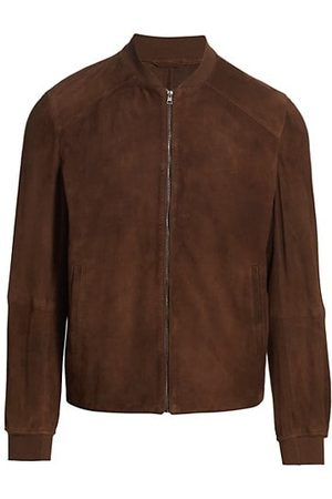 Saks Fifth Avenue COLLECTION Suede Bomber Jacket