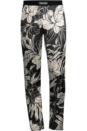 Tom Ford Hibiscus-Print Stretch-Silk Pajama Pants