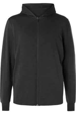 Nike Men Hoodies - Mélange Dri-FIT Jersey Zip-Up Yoga Hoodie